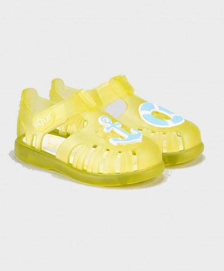 Cangrejeras IGOR Amarillas Náuticas Velcro Niña y Niño 0 en Kolekole