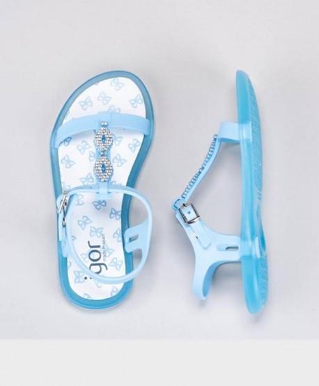 Sandalias Azul Celeste IGOR con Brillante Niña y Chica 2 en Kolekole