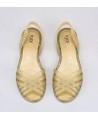 Sandalias Oro Purpurina IGOR Chica Mujer 1