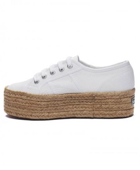 Zapatillas SUPERGA Plataforma Alpargatas Blancas Chica Mujer 1 en Kolekole