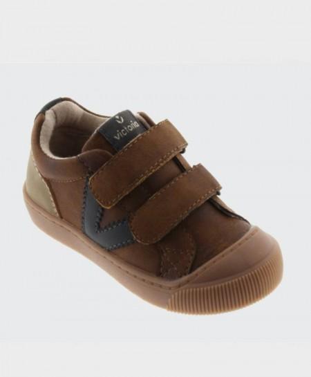 Zapatos Sport VICTORIA Marrón Cuero Niña Niño