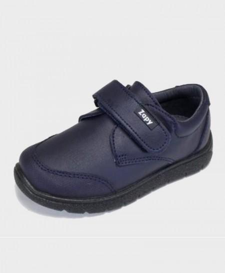 Zapatos colegiales ZAPY Azul velcro Niño 0 en Kolekole