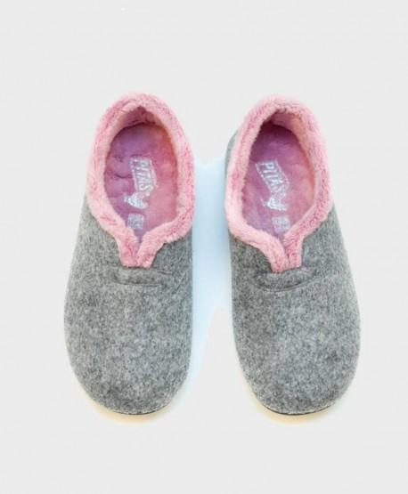 Zapatillas de Casa PITAS Gris Chica Mujer 2 en Kolekole