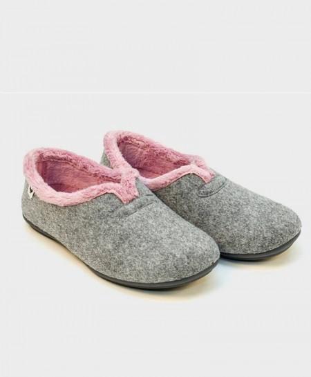 Zapatillas de Casa PITAS Gris Chica Mujer