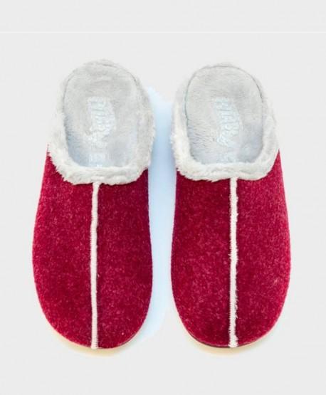 Zapatillas de Casa PITAS Burdeos Chica Mujer 2 en Kolekole