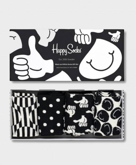Caja Regalo Calcetines HAPPY SOCKS blancos y negros 0 en Kolekole