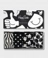 Caja Regalo Calcetines HAPPY SOCKS blancos y negros 0