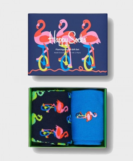Caja Regalo Calcetines HAPPY SOCKS de flamenco