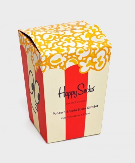 Caja Regalo Calcetines HAPPY SOCKS Palomitas y Refrescos Niña Niño