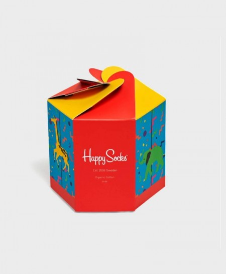 Caja Regalo Calcetines Coloridos HAPPY SOCKS Carrusel Niña Niño