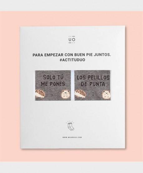 Kit Regalo Calcetines UO Originales y Divertidos Pelillos de Punta 0 en Kolekole