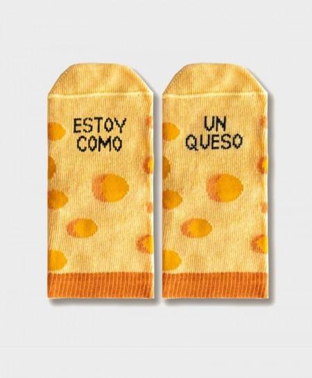 Mini Calcetines UO Originales y Divertidos Queso Niña Niño