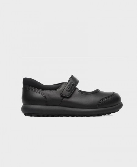 Zapatos Pelotas Merceditas CAMPER Negras Niña