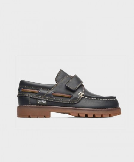 Zapatos Náuticos CAMPER Velcro Azul Niño Niña