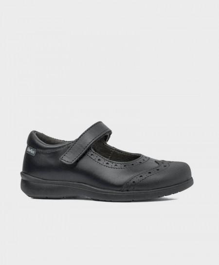 Zapatos Colegiales Merceditas GORILA Negros Piel Niña