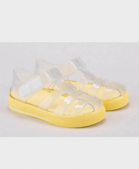 Sandalias Cangrejeras IGOR Amarillas Brillo Niña Niño 1 en Kolekole