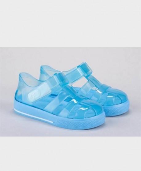 Sandalias Cangrejeras IGOR Azul Brillo Niña Niño 1 en Kolekole