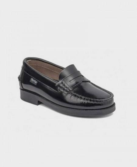 Zapatos Colegiales Mocasines GORILA Negros Niño Niña