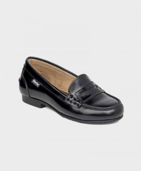 Zapatos Colegiales Mocasines GORILA Negros Niña