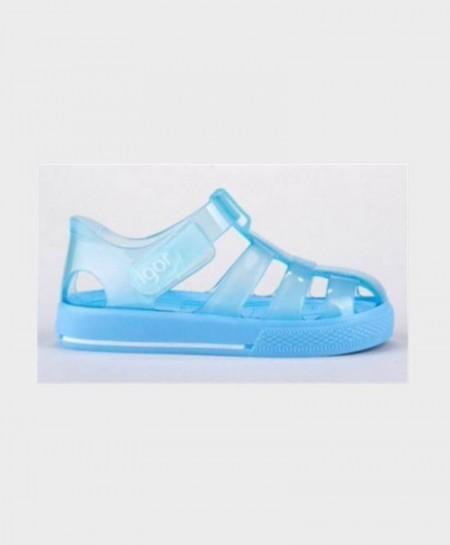 Sandalias Cangrejeras IGOR Azul Brillo Niña Niño 0 en Kolekole