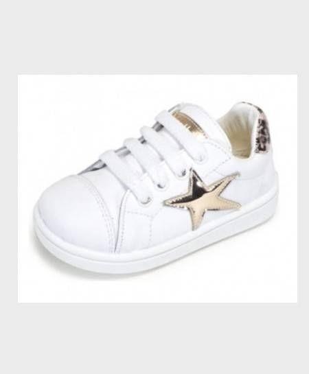 Zapatillas ZAPY Blancas Estrella Niña Niño