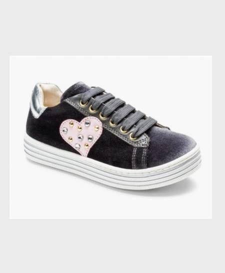 Sneakers TWINSET Terciopelo Corazón Chica Mujer