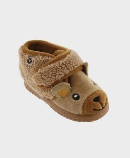 Zapatillas de Casa VICTORIA Camel Niña Niño 0 en Kolekole